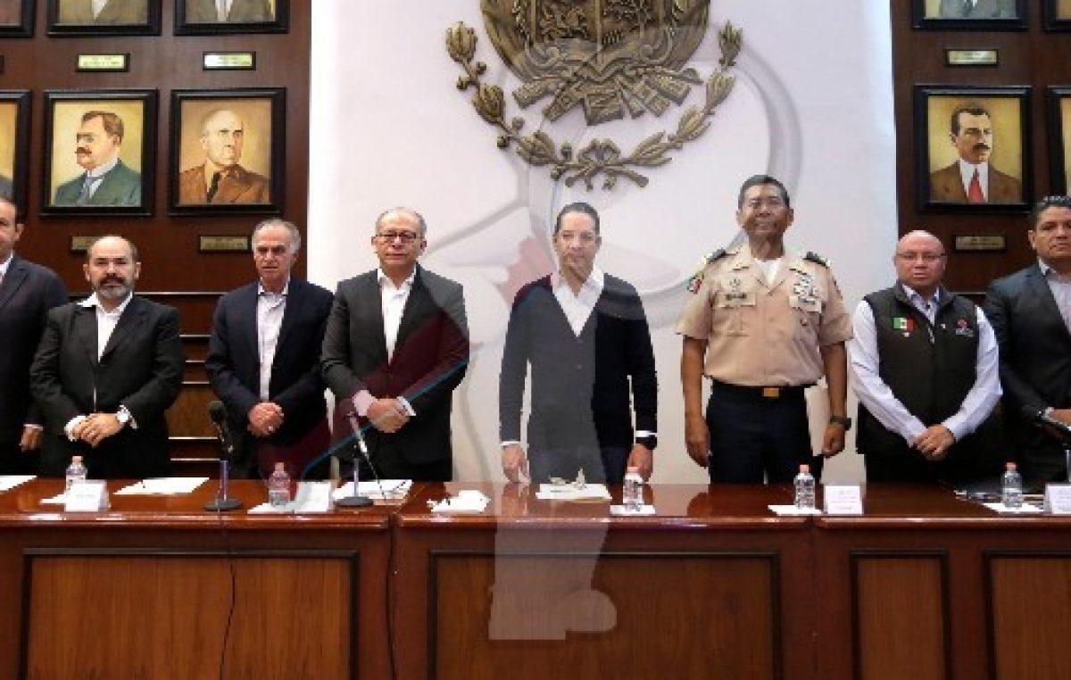 Preside el Gobernador la sesión del Consejo Estatal de Protección Civil