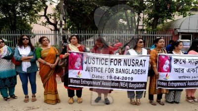 Detenidos por quemar viva a estudiante de Bangladesh