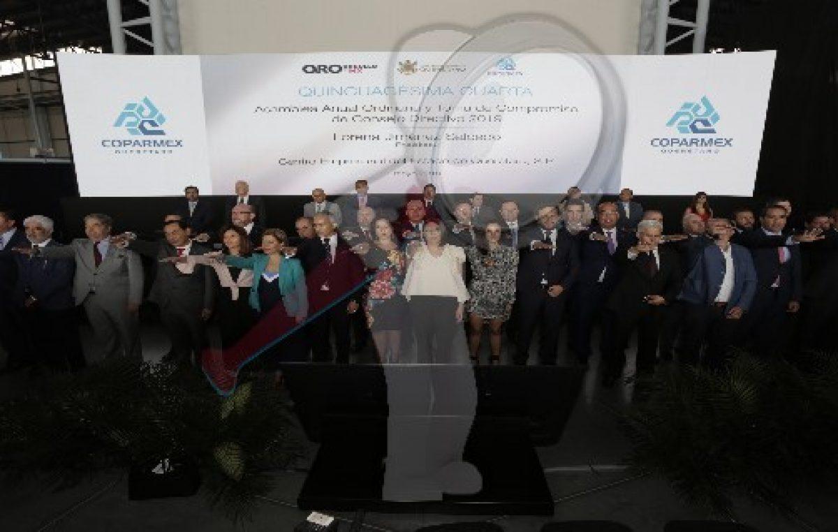 Gobernador atestigua la Asamblea de Coparmex Querétaro