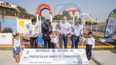 Inauguran área recreativa en preescolar de Nuevo San Juan