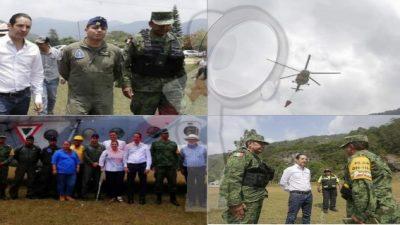 Llegan helicópteros a la Sierra Gorda para enfrentar incendio