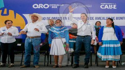 Anuncian obras para 43 comunidades del municipio de Amealco