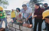 Construcción de barda perimetral beneficia a alumnos en Cerro Gordo