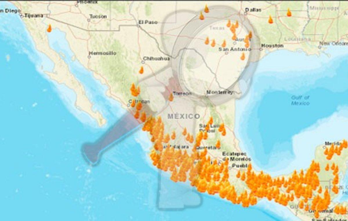 ¡México en llamas! Así el mapa de incendios forestales