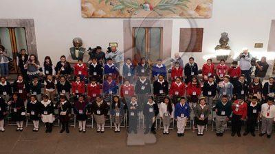 Recibe el Gobernador de Querétaro a las Niñas y Niños en el Gobierno 2019