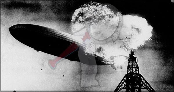 La caída del dirigible Hindenburg