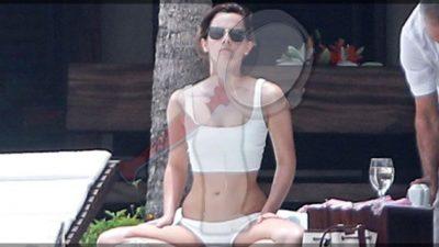 Emma Watson deja ver su CUERPAZO en playa mexicana