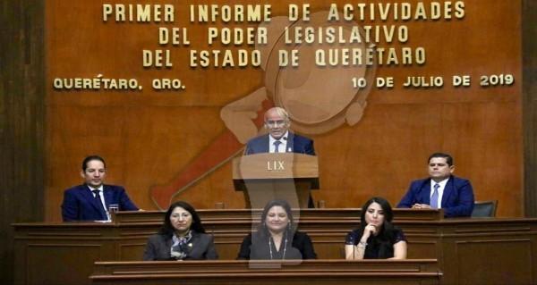 Rinde Informe de Actividades la LIX Legislatura del Estado de Querétaro