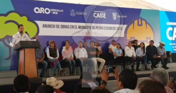 Anuncian inversión por 79.4 mdp para comunidades en Pedro Escobedo
