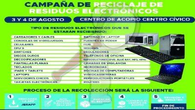 Realizan Campaña de Reciclaje de Electrónicos en SJR