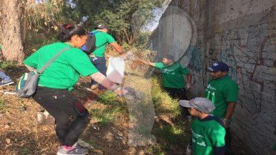 Ciudadanos, empresas y gobierno realizan campaña de limpieza y reforestación en SJR