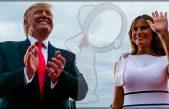 Melania Trump insiste en aparecer en público sin bra