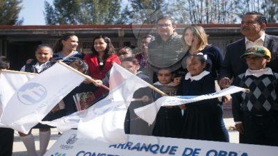 Reconstruyen arcotecho en primaria de Santa Matilde tras deterioro