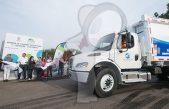 Memo Vega pone en marcha 7 nuevos camiones recolectores de basura