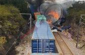 Trenes chocan dejando tres lesionados en Nopala, Hidalgo