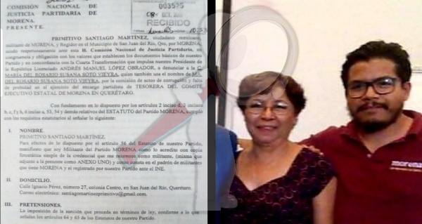 Denuncian actos de corrupción al interior de MORENA en Querétaro