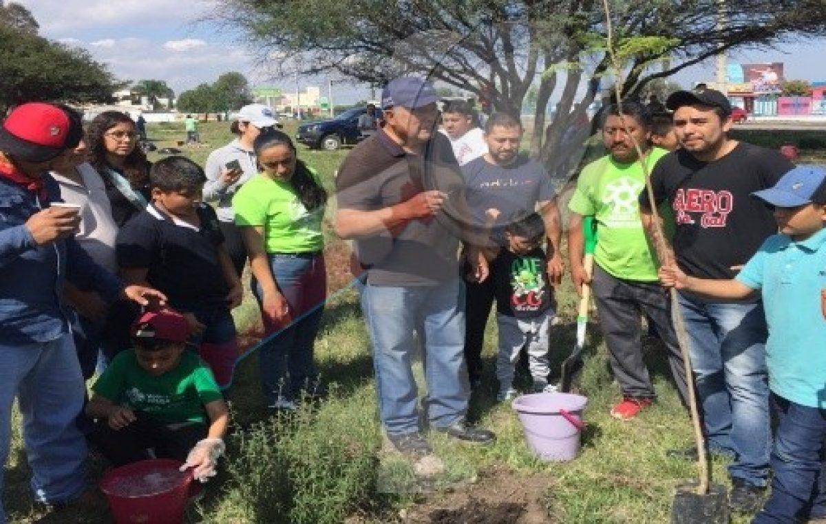 Más de 13 mil 500 árboles plantados en campaña de reforestación en SJR