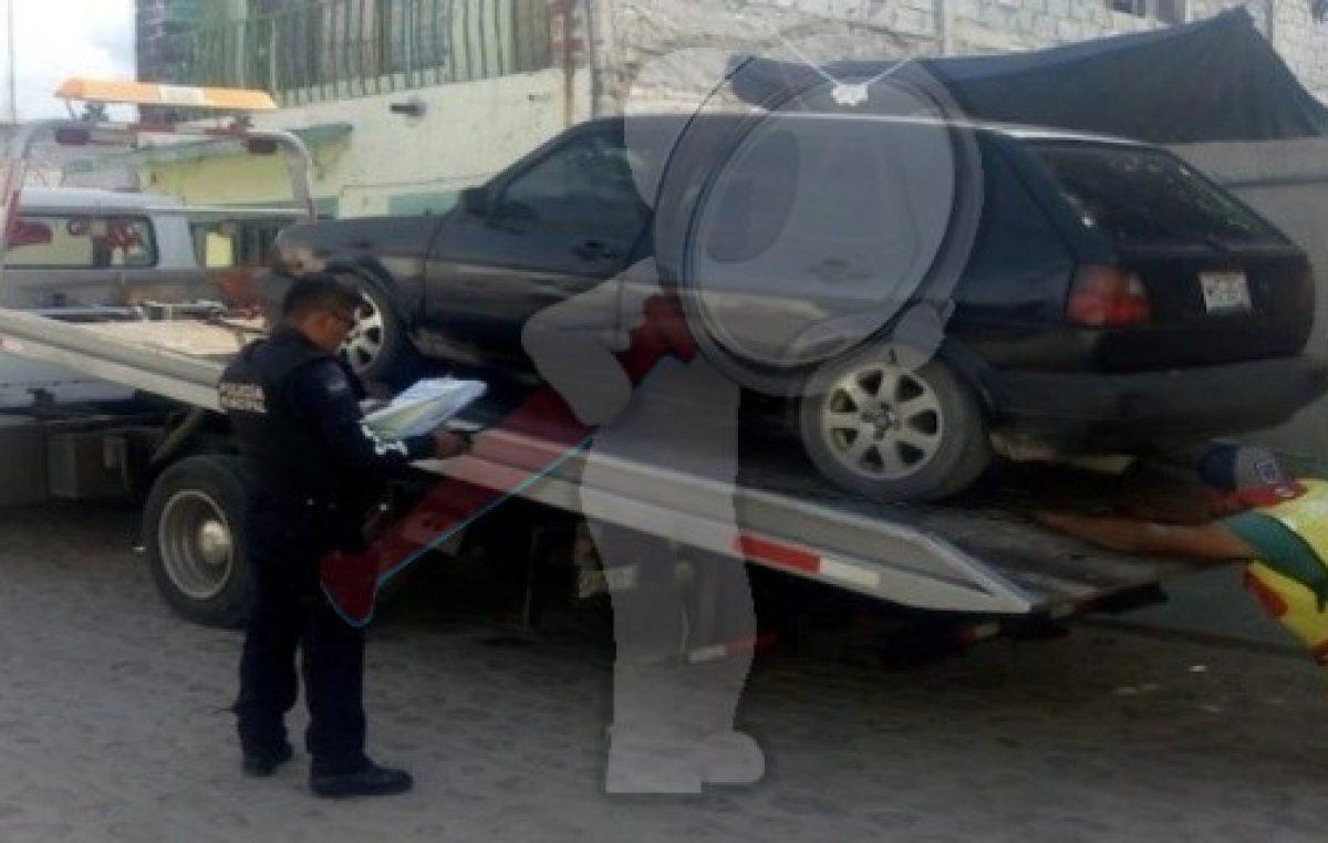 SSPM de Escobedo recuperan vehículo robado en El Chamizal