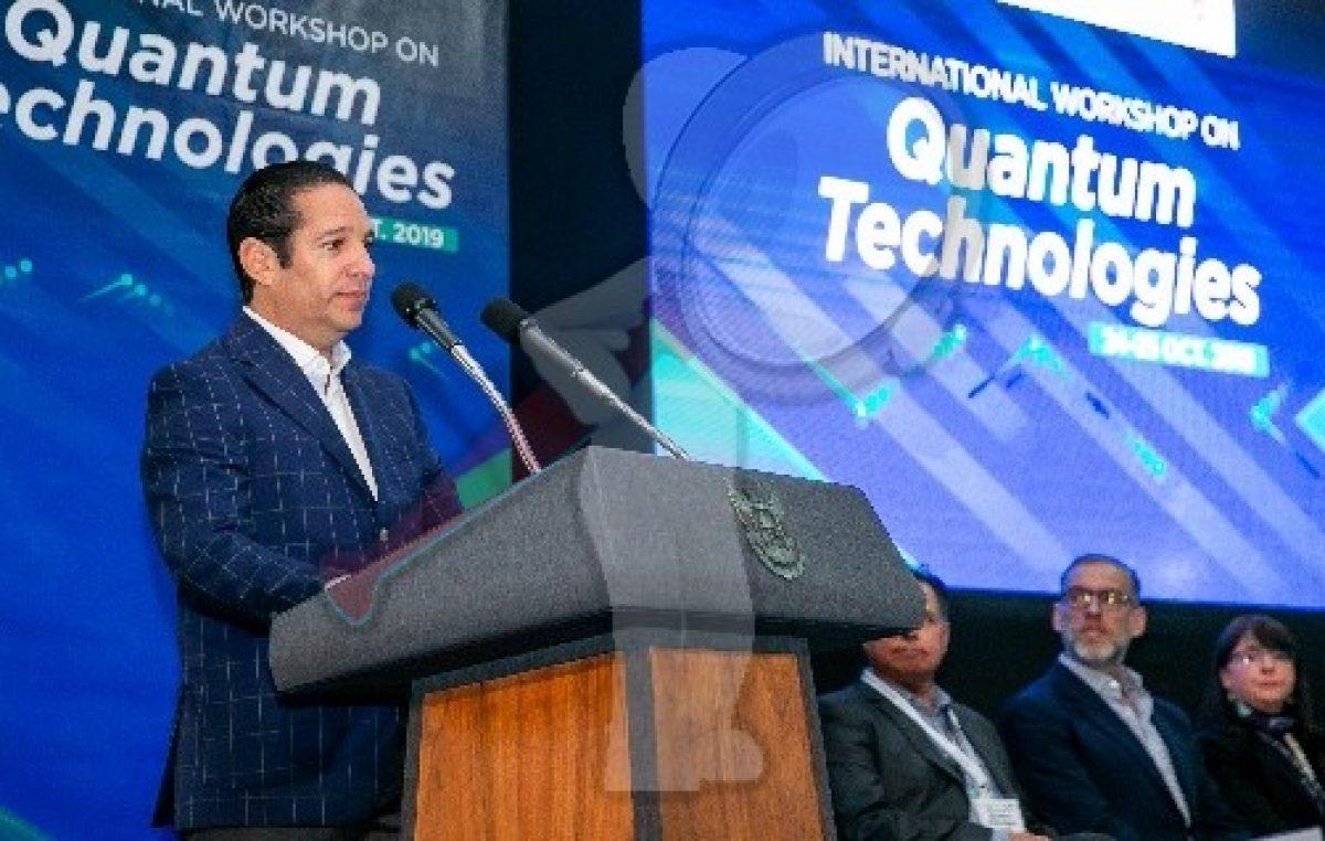 Inaugura Gobernador el International Workshop on Quantum Technologies