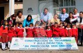 Niños de preescolar de Estancia de Santa Lucía beneficiados con obra