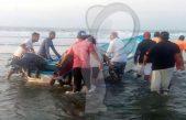 Embarcación naufraga en Puerto Aristas, Chiapas