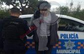 Sujeto detenido por presuntos delitos contra la seguridad pública