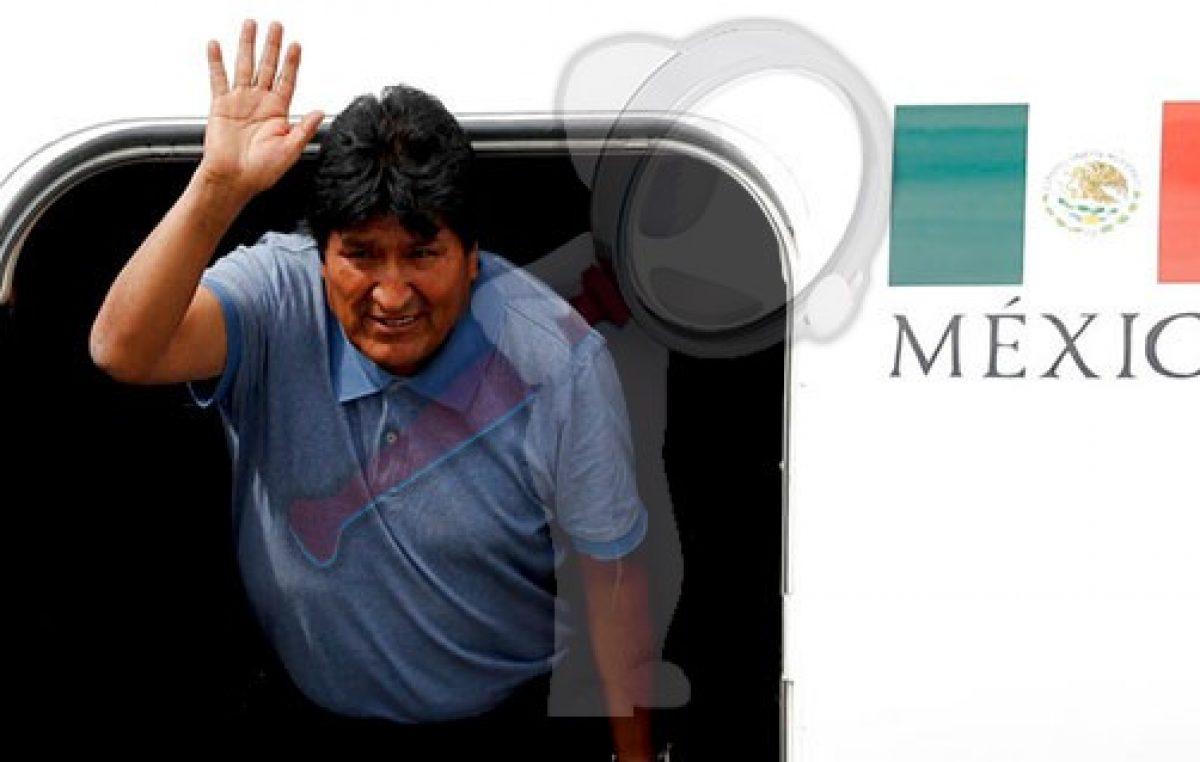 Llega Evo Morales a México, luego de que se le concediera asilo político