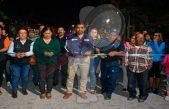 Entrega de obras de infraestructura en colonia Estrella en Escobedo