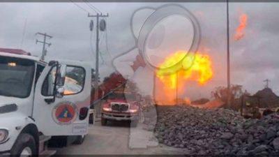 Fuga provoca incendio en gasoducto de Reynosa, Tamaulipas