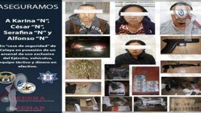 """Esposa de """"El Marro"""" es detenida en Guanajuato"""