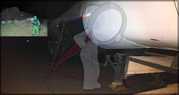 Cae sujeto con pipa cargada de combustible presuntamente ilegal