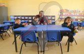 Inauguran autoridades municipales aula en preescolar de Santa Rosa Xajay