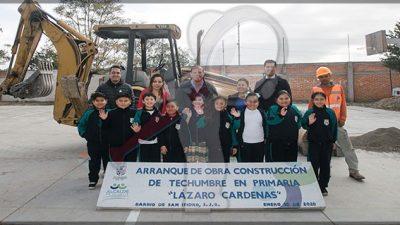 Arranca obra de techumbre en primaria del Barrio de San Isidro