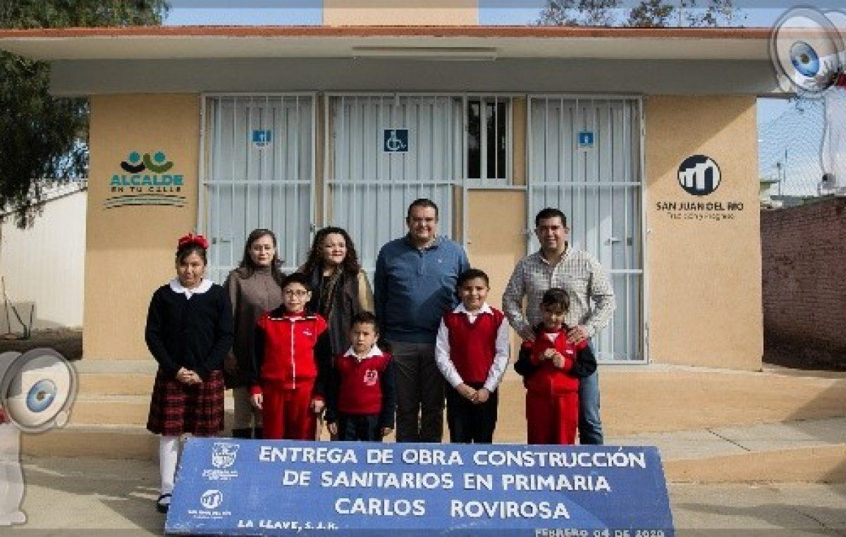 Gobierno de Memo Vega mejora escuelas en La Llave