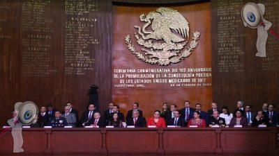 Celebran el CIII Aniversario de la Promulgación de la Constitución Política de los Estados Unidos Mexicanos