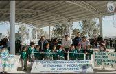 Memo Vega entrega arcotecho en primaria de Santa Isabel El Coto