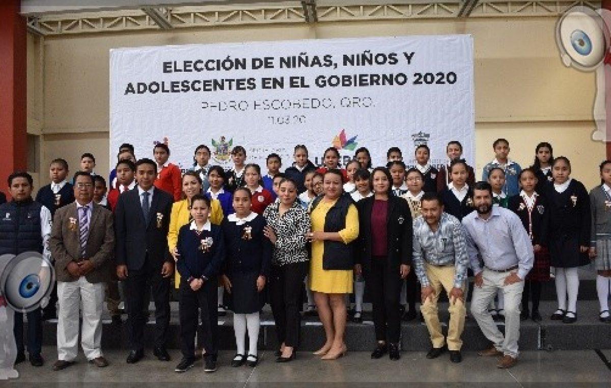 Realizan elección de niños y adolescentes en el gobierno 2020