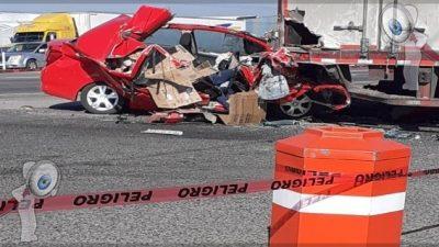 Fuerte choque deja un muerto en la carretera 57