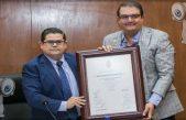 Reconocen a Memo Vega por donación de predio para ciudad Judicial