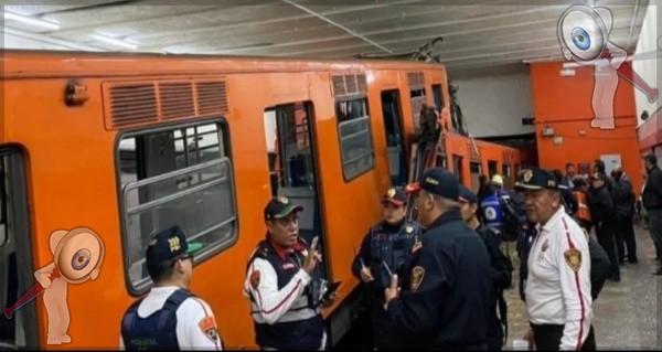 Choque de trenes del Metro deja 40 heridos y un muerto en la estación Tacubaya