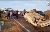 Jóvenes estudiantes de la UTSJR se accidentan en la carretera 300