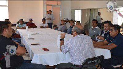 Realizan reunión con autoridades auxiliares ante COVID-19