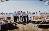 Colocan primera piedra para invernadero de jitomate en SJR