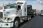 Recuperan tracto-camión tras persecución en la 57