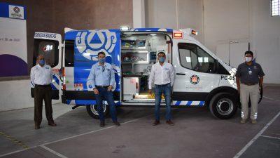 Recibe Pedro Escobedo ambulancia donada por la empresa TC Energía