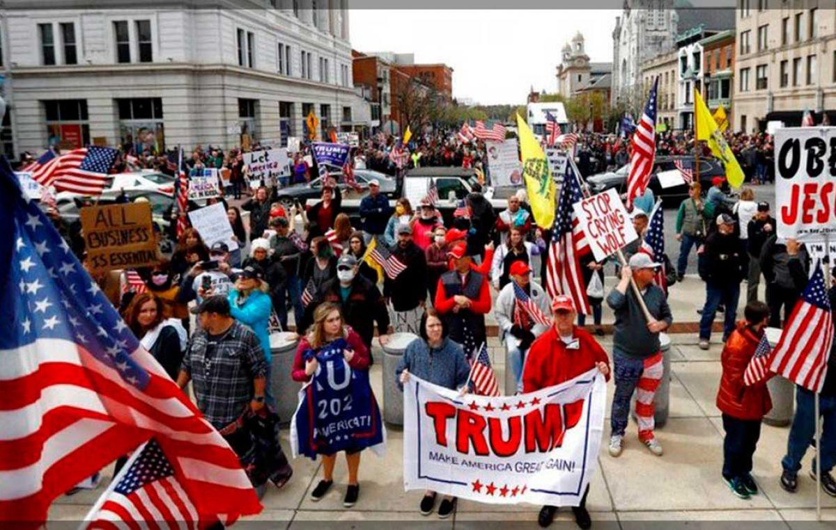 Protestan contra la cuarentena del COVID-19 en Pensilvania