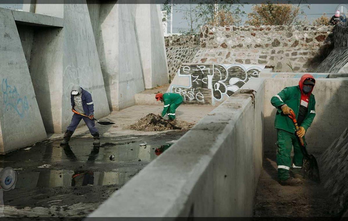 Realizan trabajos preventivos ante temporada de lluvias