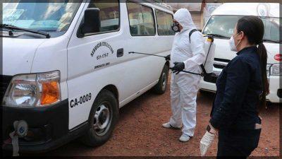 Realiza Vero Hernández sanitización de transporte público