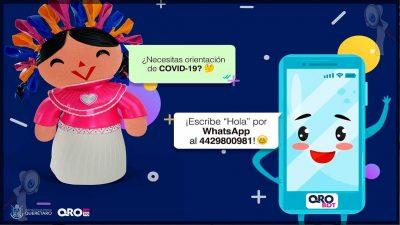 """Anuncian """"Qrobot"""" servicio automatizado para informar sobre COVID-19"""