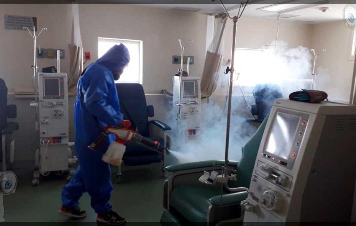Gobierno sanjuanense apoya con la sanitización a  Hospital General